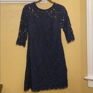 Navy Lace Dress 4